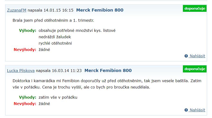 Recenzia na Femibion 1 na emimino.cz