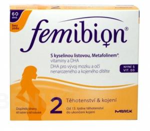 Femibion 2 Kyselina listová a METAFOLIN