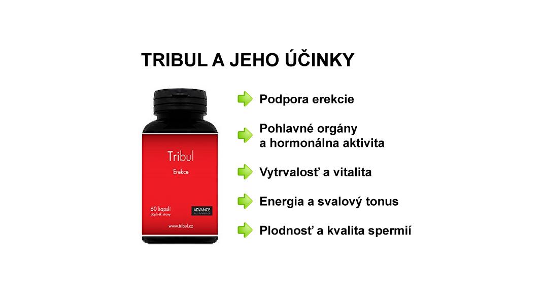 Účinky výživového doplnku Tribul